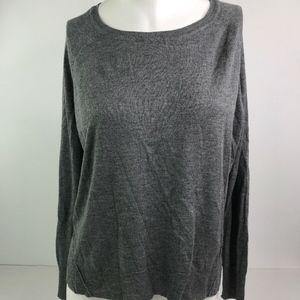 Zara knit solid gray long sleeve lightweight cardi